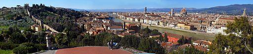 Firenze da Piazzale Michelangelo: un panorama imperdibile per una guida turistica.